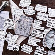 46 unids/lote Vintage inglés decoración de periódico mini pegatina de papel para decoración DIY álbum de recortes diario etiqueta adhesiva kawaii