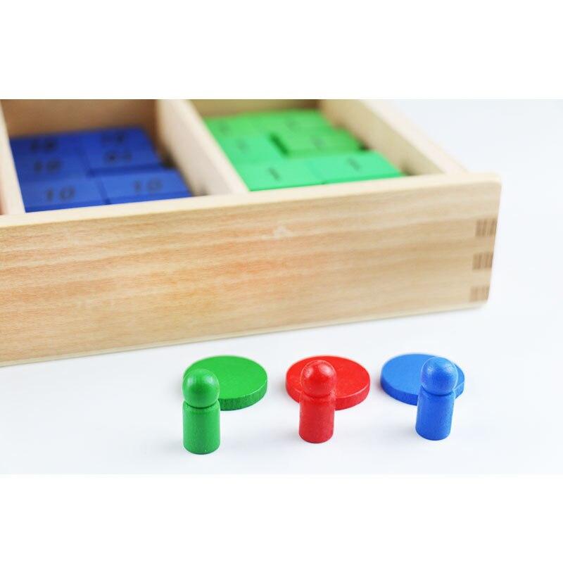 Montessori jouets en bois Montessori timbre jeu Montessori mathématiques matériaux d'apprentissage fournitures pour enfants Juguetes Brinquedos YG1064H - 2