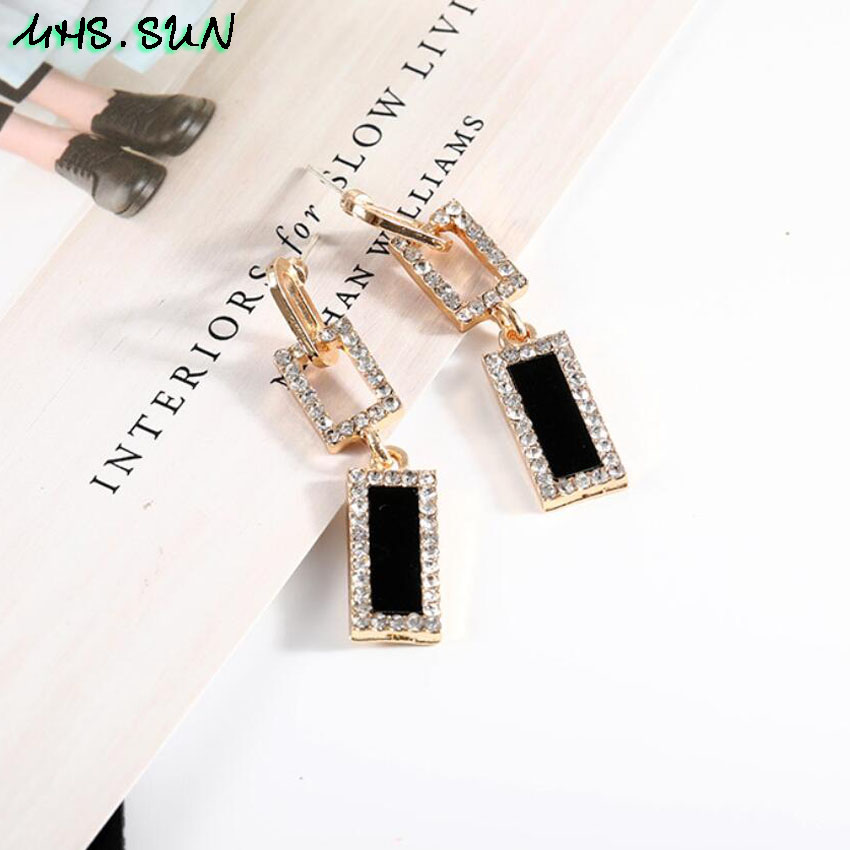 30-1Fashion Exaggerated Women Crystal Drop Earrings European Style Dangles Earrings Jewelry Trendy Design Party Accessories