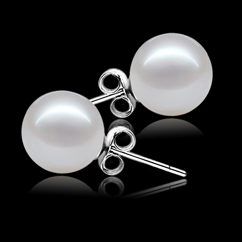 genuine freshwater white pearl earring baby girls pearl earings for kids brithday gifts  ...