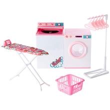 Горячие игрушки куклы аксессуары дом мебель девушка подарок на день рождения Прачечная очиститель сушилка центр для Барби развивающие игрушки