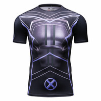 Wower Game T Shirt Homme Fight For Alliance Film Character Mens Printed Shirt Compression Tights Tops