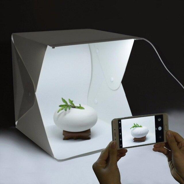40cm/15.7in Folding LED Lightbox Light Tent Portable Photography Studio Softbox Light box for & 40cm/15.7in Folding LED Lightbox Light Tent Portable Photography ...