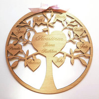 Personalised Family Tree Plaque Mothers Day Present Fathers Day Present Grandparents Day Gift Wedding Favors