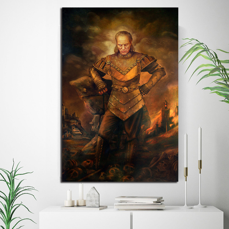 Ghostbusters II Vigo Movie Vintage Poster Minimalist Art Canvas Poster Print Wall Picture Modern Home Room Wall Decoration image