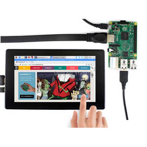 Image 4 - Raspberry Pi 7inch LCD 7 inch USB Capacitive Touch screen HDMI VGA display for computer mini PC adjustable 480x320 1920x1080