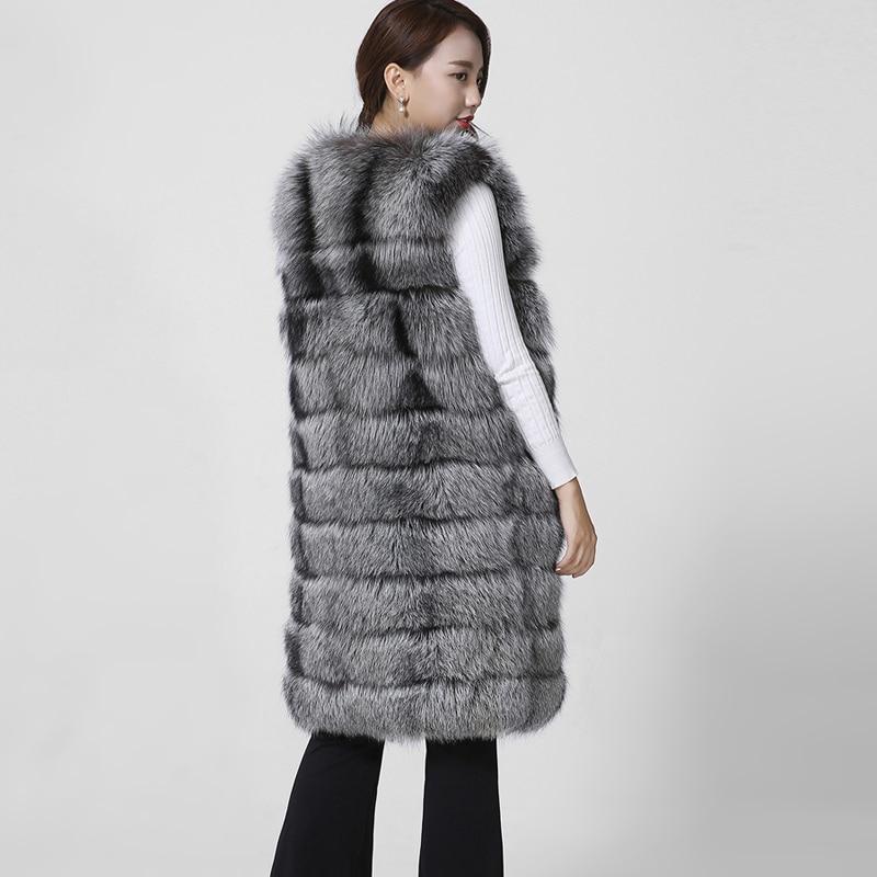 De Silver 2017 Qualité Fourrure Sans Color Renard Réel Manteau Fox Gilet Luxe Marque Naturel 100 Manches Nouveau Style Bonne Mode r7Zt7