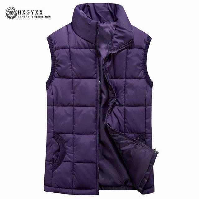 Осень-зима хлопковый жилет Для женщин жилет 2018 женский без рукавов куртка Стенд воротник теплый короткий жилет пальто плюс Размеры 4XL OK379