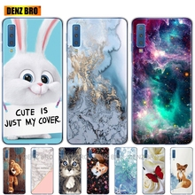 soft silicone Case For Samsung Galaxy A7 2018 Phone shell Colorful Printing Back Cover For Samsung A7 2018 A750 A750F 6.0 Inch