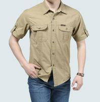 European Casual Style Men S Summer Pure Cotton Plaid Loose Short Sleeve Shirts Big Size M