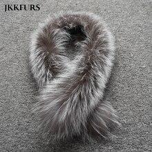 Для женщин натуральная черно-бурая лиса меховой воротник натуральный мех шарфы зима толстые теплые Мода Стиль Одежда высшего качества из натуральной меховой шарф S7396