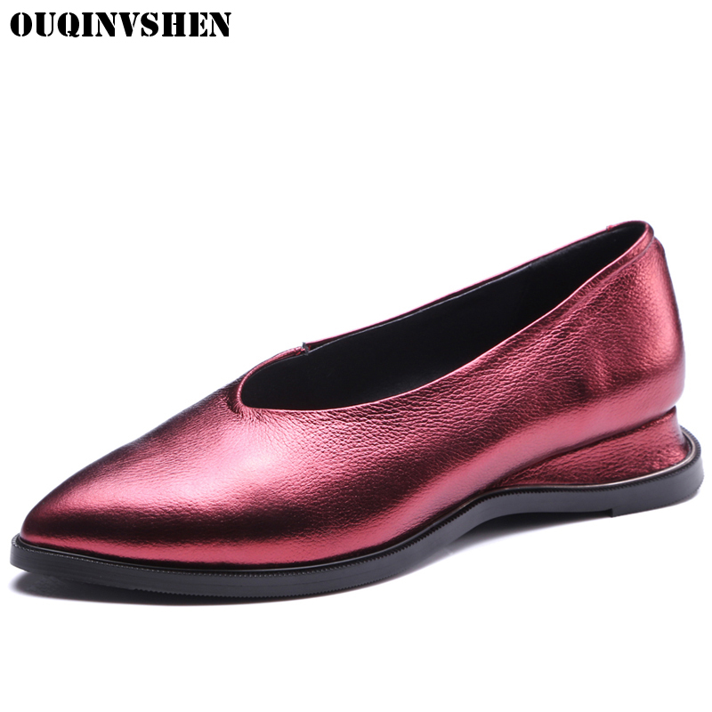 OUQINVSHEN Platform Women Flats Fashion Women Brand Shoes Classical Casual Wedges Loafers Women Summer Shallow Casual Flat Shoes 2017 summer new fashion sexy lace ladies flats shoes womens pointed toe shallow flats shoes black slip on casual loafers t033109