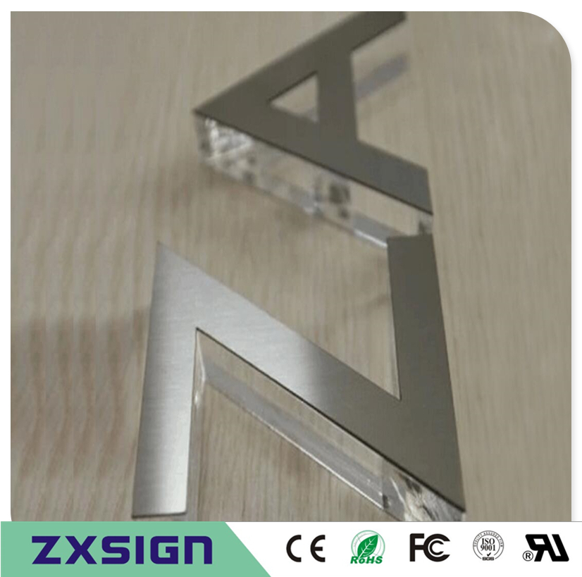 Outdoor Or Indoor 8mm Thick Acrylic Letters For Shop Decoration,acrylic Signs With Stainless Steel Surface