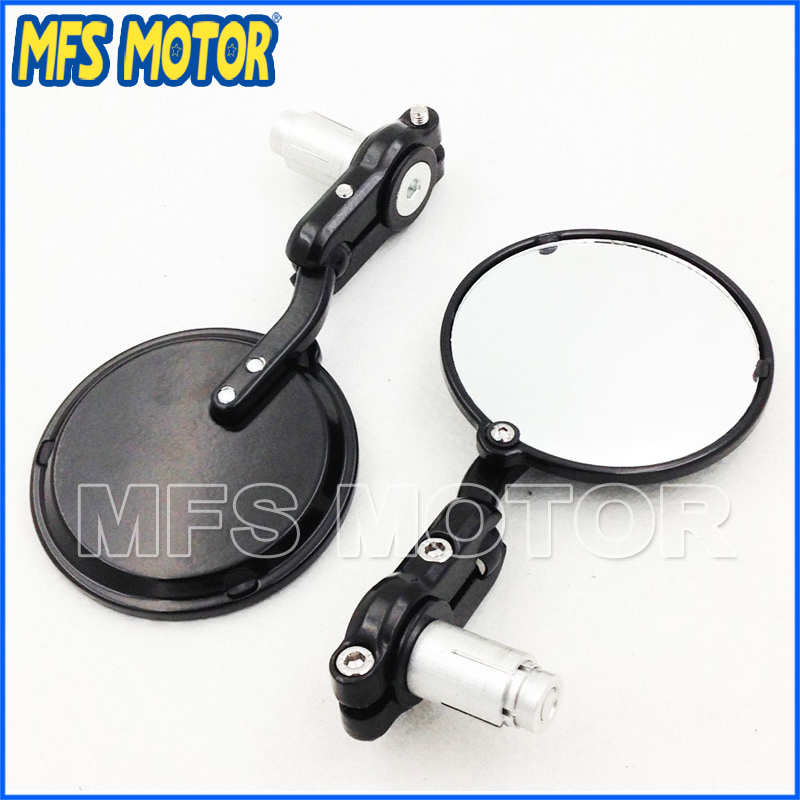 Quality Motorcycle Aluminum Round Bar End Mirror For Cafe Racer Clubman Biker