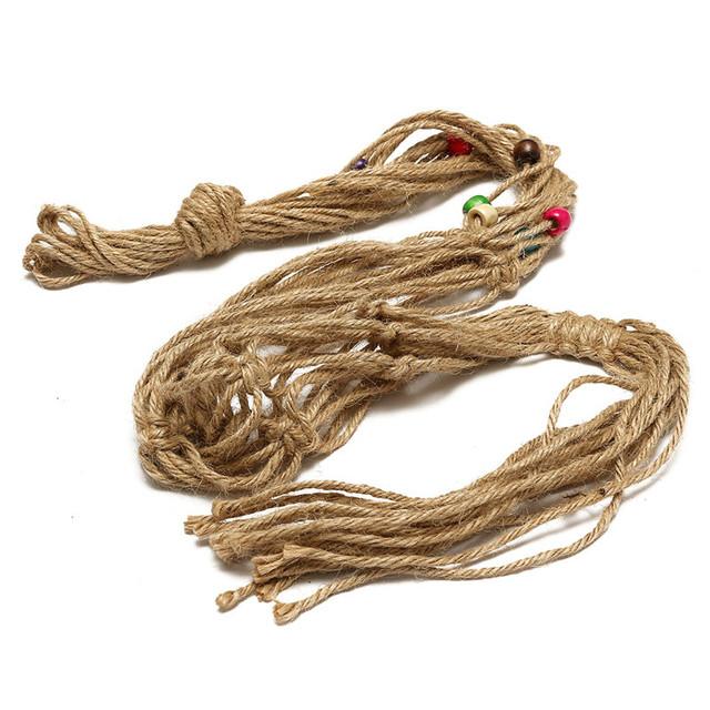 35 Inch Colour Bead Flowerpot Plant Hanger Macrame Jute Rope Garden Decorative Cord