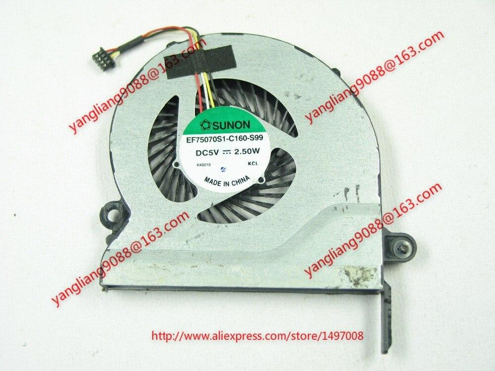 SUNON EF75070S1-C160-S99 DC 5V 2.50W     Server Laptop  fan free shipping for sunon eg50040v1 c06c s9a dc 5v 2 00w 8 wire 8 pin server laptop fan