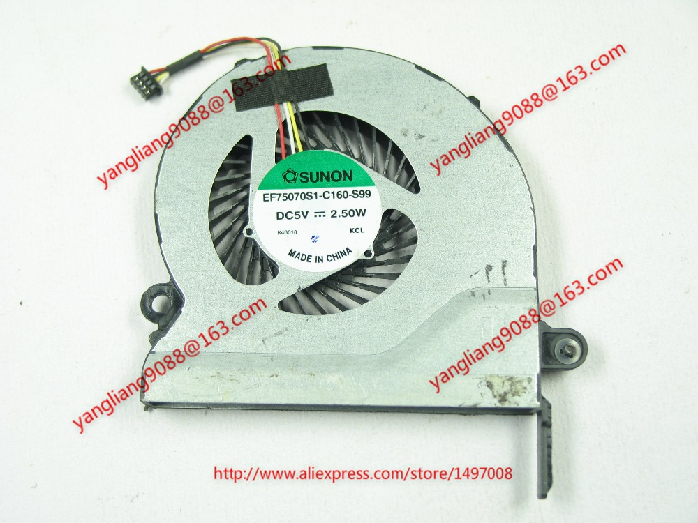 Free Shipping For SUNON EF75070S1-C160-S99 DC 5V 2.50W 4-wire 4-pin connector 60mm Server Laptop Cooling fan free shipping for sunon eg50040v1 c06c s9a dc 5v 2 00w 8 wire 8 pin server laptop fan