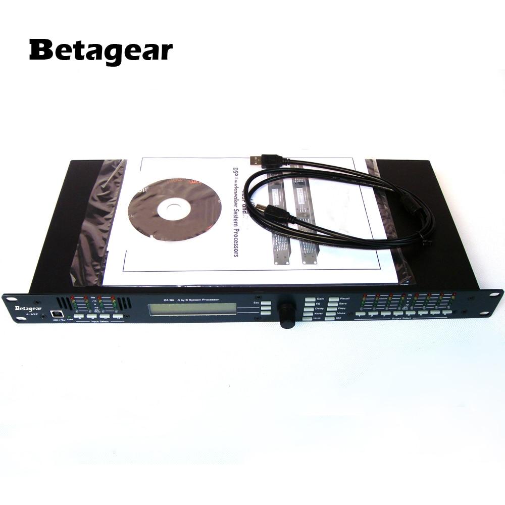 Tragbares Audio & Video Dj-equipment Herzhaft Betagear 4.8sp Dsp Lautsprecher System Prozessor 4-in X 8-out W/usb Live Sound Digitalen Audio Prozessor Effectors Dj Ausrüstung Delikatessen Von Allen Geliebt