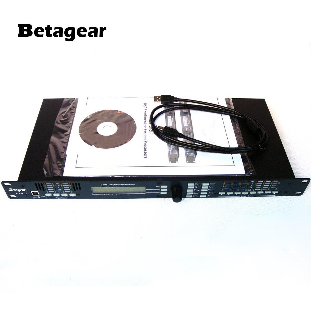 Betagear 4.8SP DSP Loudspeaker System Processor 4 In x 8 Out w/ USB Live Sound Digital Audio Processor effectors dj equipment
