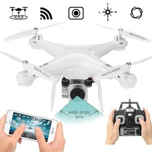 Drone 4 Channel 2.4GHz 2MP HD camera LED Lighting 6-Axis Gyro 360degree Rolling Quadcopter APP Set Height Remote UAV Aircraft