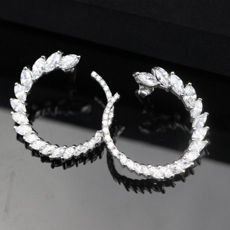 Nouveau classique 925 en argent Sterling boucle d'oreille Simple cercles boucles d'oreilles pour femmes boucles d'oreilles mode bijoux femme boucle d'oreille livraison gratuite