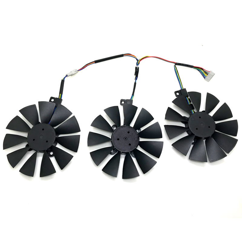New 88MM T129215SU Cooling Fan Replace For ASUS Strix GTX 1060 OC 1070 1080 GTX 1080Ti RX 480 Graphics Card Fan image