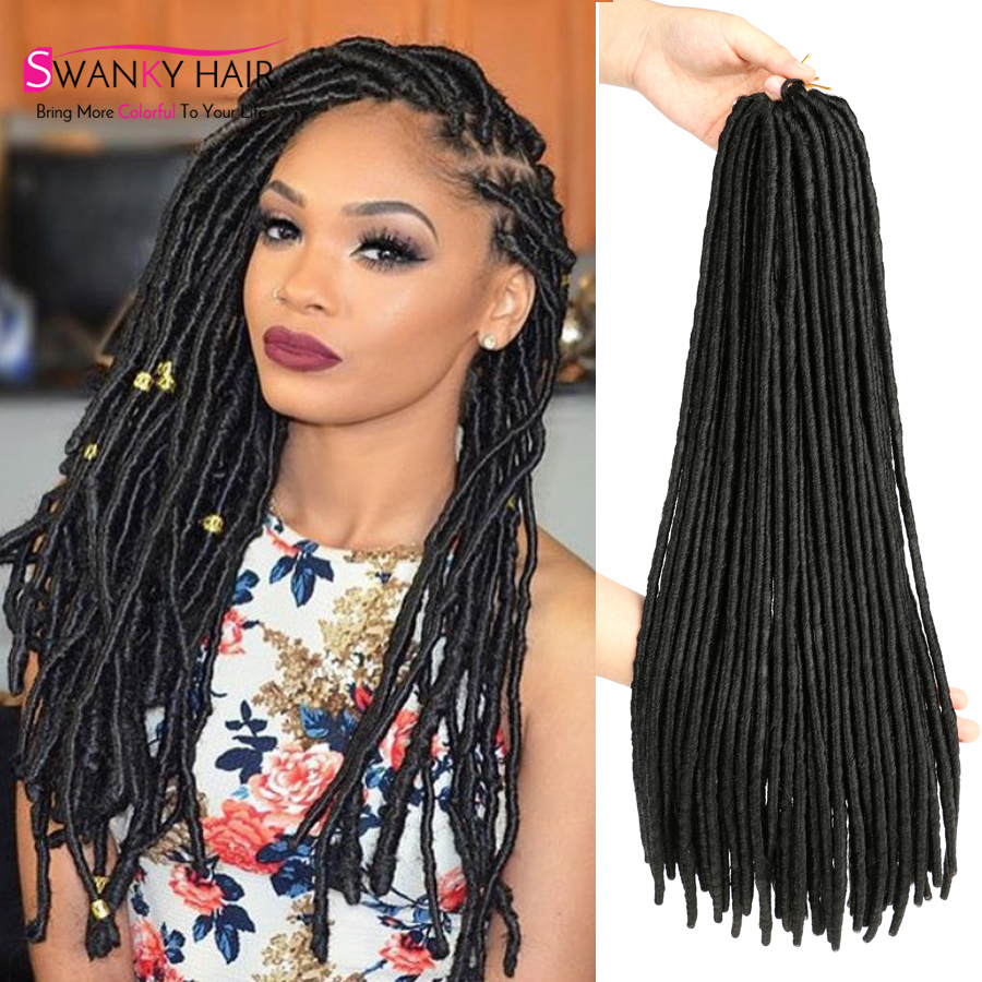 18 Inch Faux Locs Crochet Braids Hair Extension Synthetic
