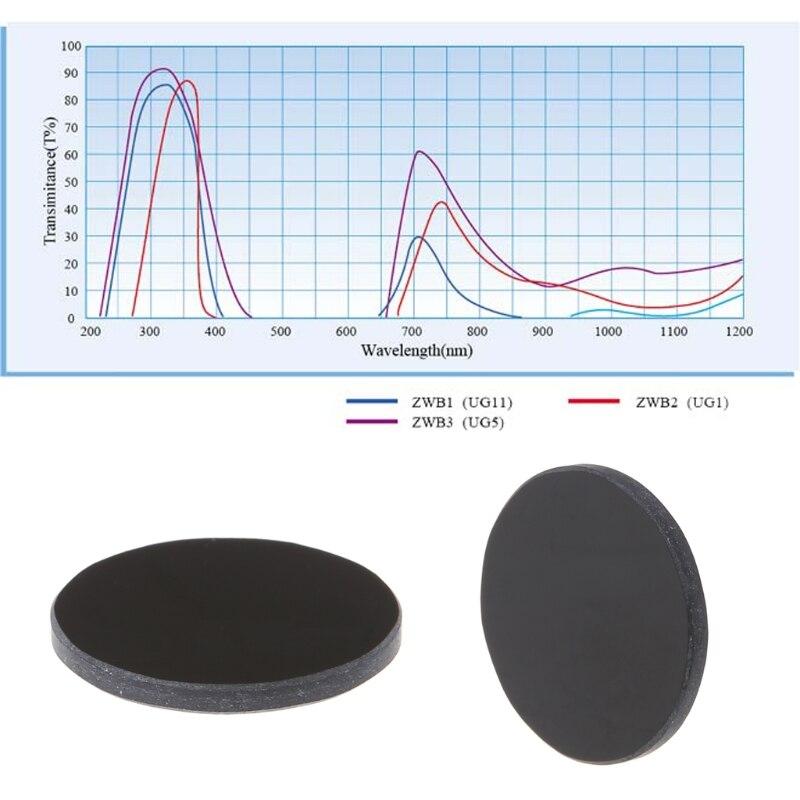1 Pc Zwb2 Uv Uv Band Pass Filter Durchmesser 20,5mm Dicke 2mm 2019 Beste Verkauf Drop Verschiffen