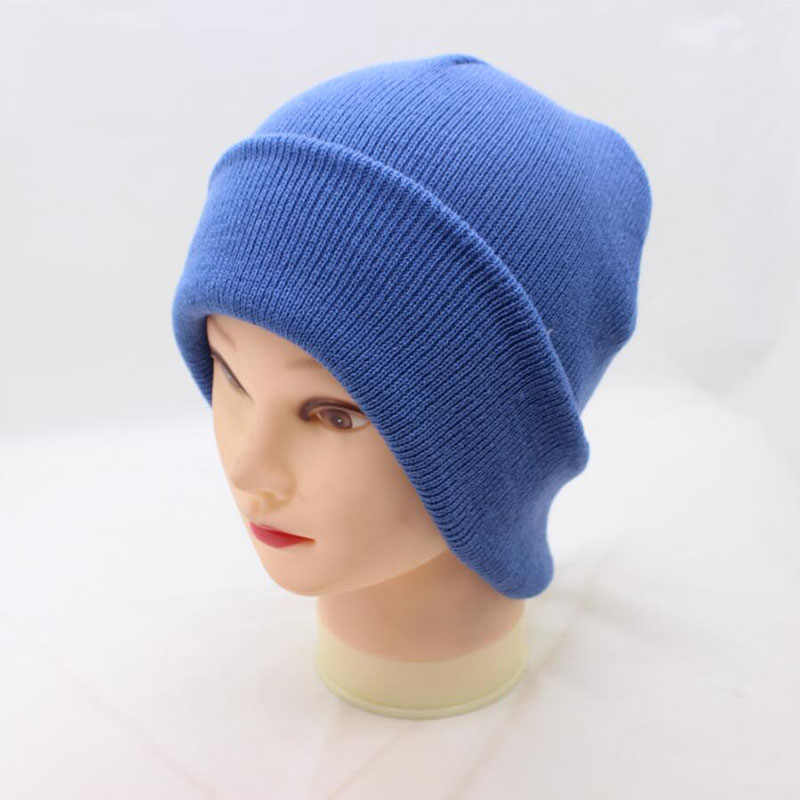 1c88beb4382 ... 2018 New Winter Hats Unisex Women s Cotton Solid Warm Hot Sale HIP HOP  Knitted Hat Female ...