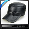 Fashion Man Leather Hat Hat Men's Genuine Skin Hat Male Winter Warm Baseball Cap Adjustable Hat New Year Gift B-4547