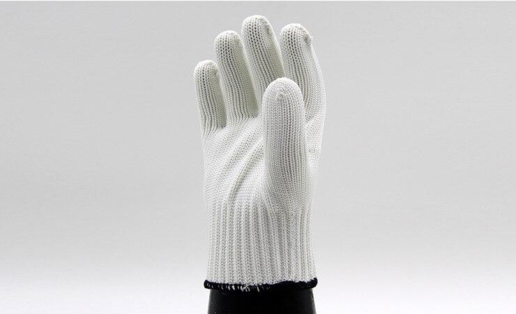 More popular nylon gloves knitting white mechanic gloves prevent slippery wear-resisting protection gloves 10 double/package