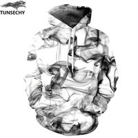 TUNSECHY New Fashion Men Women 3D Sweatshirts Print Watercolor Dreamy Smoke Lines Style Autumn Winter Hoodies