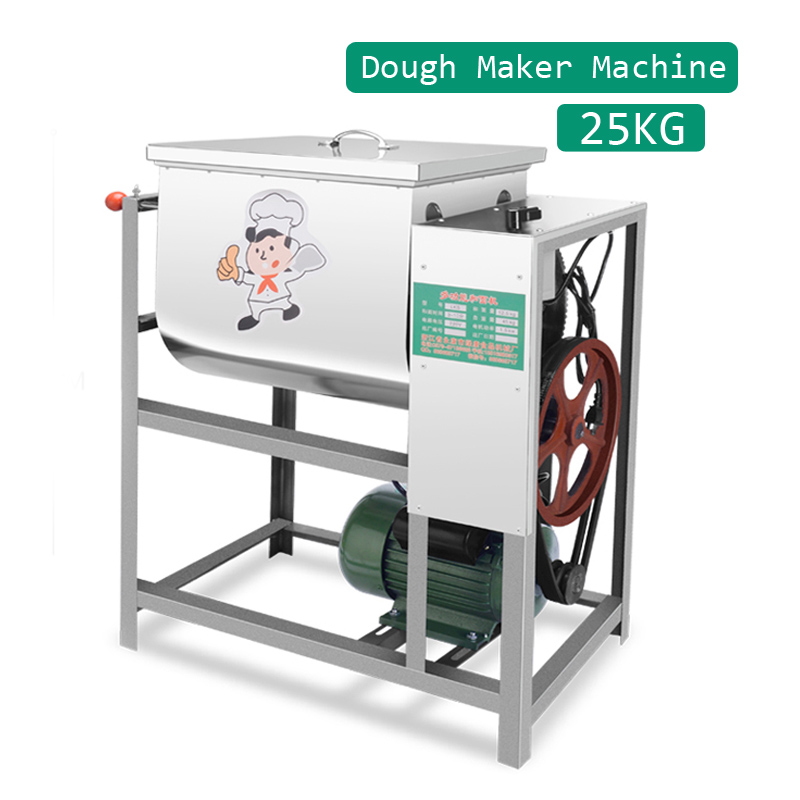 Automatic Kneading Dough Machine Mixer 25KG 2200W Stainless Steel Commercial Kitchen Electric Bread Flour Dough Maker 220V CE CB