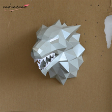 MOMEMO 1pc 3d Puzzle Game of Thrones Toy Winterfell Direwolf Head Paper Folding Modelo Toy 3d Puzzles for Adults 3d Model Puzzle