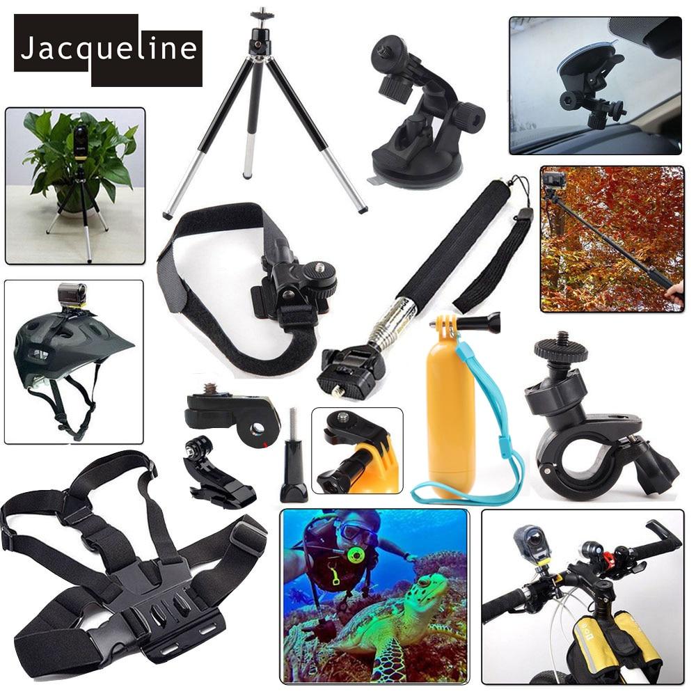 Jacqueline de Kit de accesorios conjunto de montaje para Sony Action Cam HDR AS15 AS20 AS200V AS30V AS100V AZ1 mini FDR-X1000V/ W 4 k