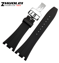 New 28mm Black Silver Gold Rose gold button Silicone Rubber Waterproof Sport Wrist Watch Band Strap