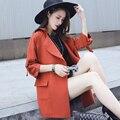 Mulheres Long Trench Coat outono moda 2016 inverno estilo Plus Size XXL trincheira casaco quente venda sólidos doce cor feminino trincheira