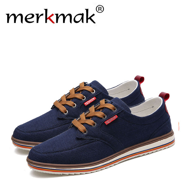 Merkmak/большие размеры; дышащая мужская обувь; распродажа; парусиновая обувь со шнуровкой; Роскошная брендовая Мужская Дизайнерская обувь из ...