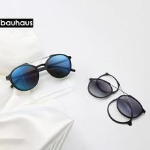 Bauhaus Magnetic Sunglasses Polarized Myopia glasses frame five color fashion Optical ULTEM Eyewear