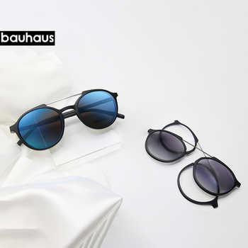 Bauhaus Magnetic Sunglasses Polarized Sunglasses Myopia glasses frame five color fashion Optical ULTEM Eyewear - DISCOUNT ITEM  40% OFF All Category