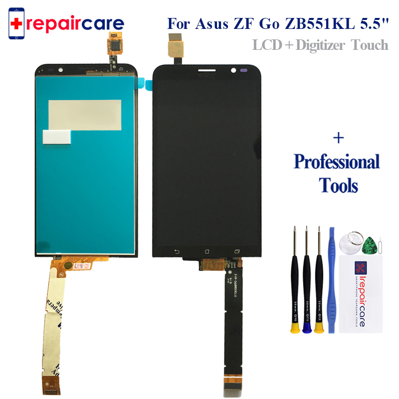 DHL 10PCS For <font><b>Asus</b></font> Zenfone Go ZB551KL <font><b>X013D</b></font> Lcd Screen Display WIth Touch Glass DIgitizer Frame Assembly Replacement Parts image