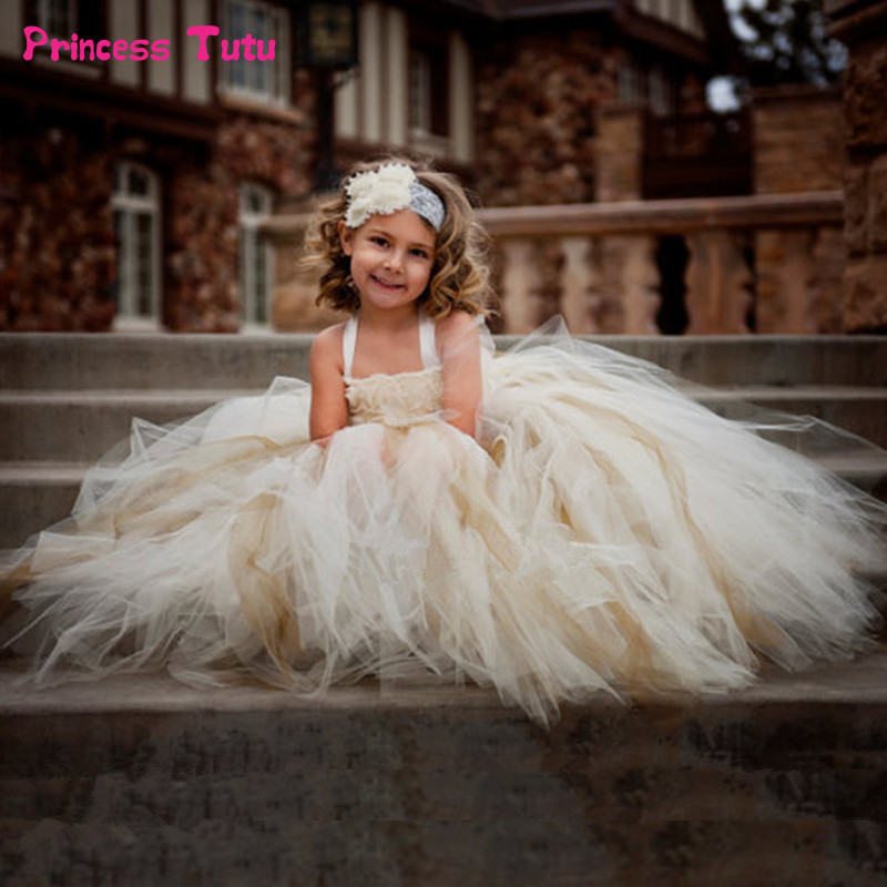 Gorgeous Flower Girl Tutu Dress Children Vintage Wedding Ball Gown Kids Girl Flower Dress Tulle Birthday Party Baby Girl Clothes latest solid color flower girls tutu dress kids tulle dress for birthday wedding party children girl ball gown tutus