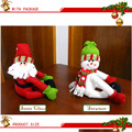 Novelty Plush Dolls Christmas Snowman Stuffed Doll Toy Also As Large Wine Bottle Cover Bottle Ornament Christmas Home Decoration
