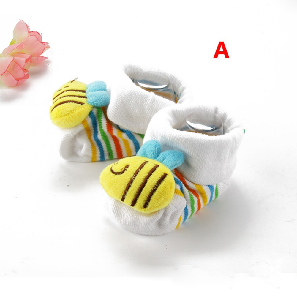 Cute Kids Boy Girl Baby 3D Cartoon Animal Doll Cotton Socks Anti Slip Crib Shoes