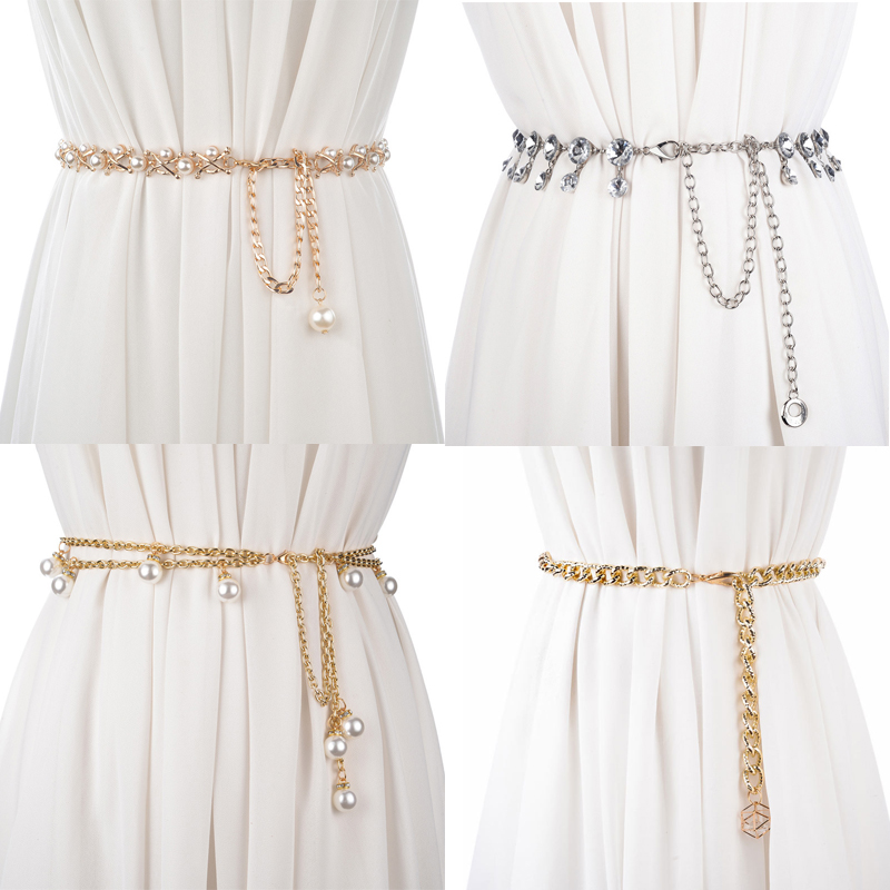 CETIRI 35 Style Fashion Silver Gold   Belts   Women Waistbands All-match Multilayer Long Tassel Party Jewelry Dress Waist Chain