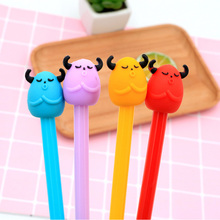 4 pcs/Lot cute cartoon Beef balls Gel Pen Promotional Gift Stationery Kawaii School Office supplies children Neutral pen Gifts