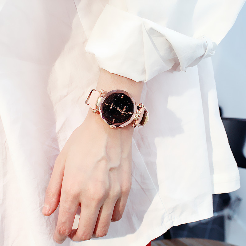 Luxury Women Quartz Watches Starry Sky Rose Gold Simplicity Fashion Trends Fantisy Star Dail Best Sell Casual Dress FemmeMontre