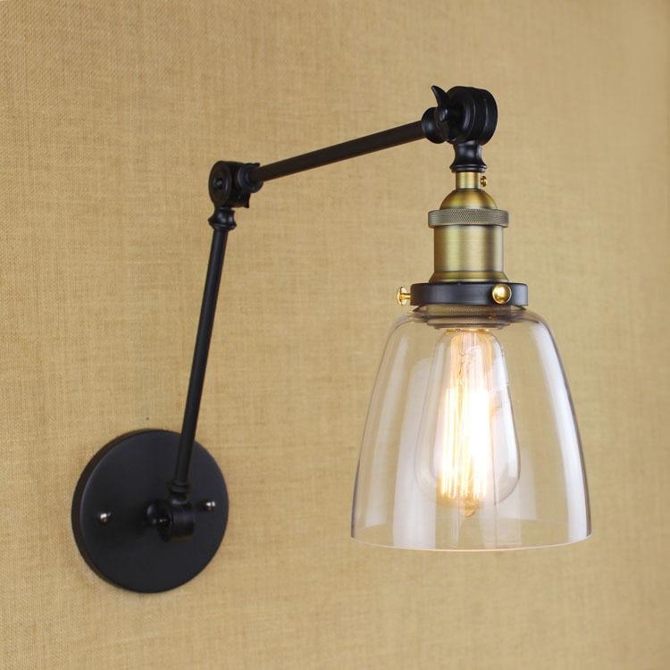 Loft Style Household Contracted  Iron Wall Light Edison Bulb Retro Cafe Light  Bedroom Light Aisle Lamp AC90-260V Free Shipping