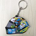 Free shipping 1pcs/lot 2017 Moto gp VR46 the doctor rossi motorcycle helmet keychain key rings llavero gift for Valentino Rossi