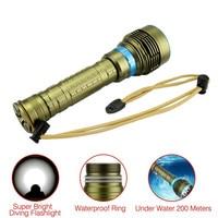 Diving Flashlight T6 L2 Led Flashlight Scuba Underwater 200m Flash Light Waterproof Lamp Torch 26650/18650